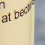 close up of ambien pill bottle