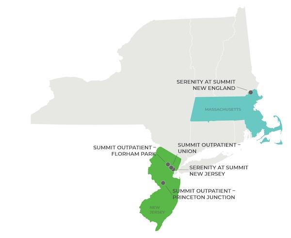 Serenity at Summit Map