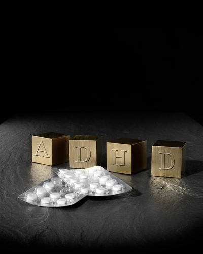 "Blocks spelling out ""ADHD"""