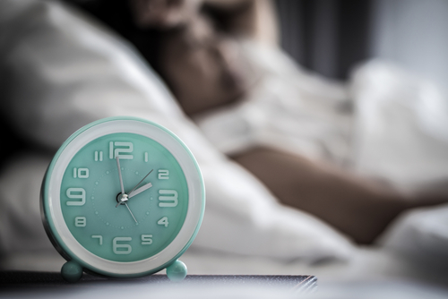Alarm clock on a nightstand